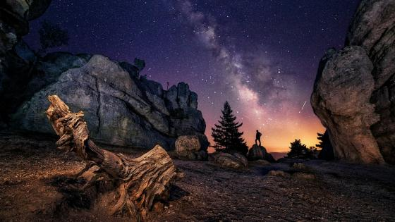 Castroviejo starry sky wallpaper