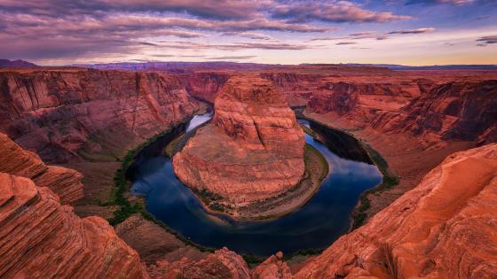 Colorado River Horseshoe Bend panorama wallpaper