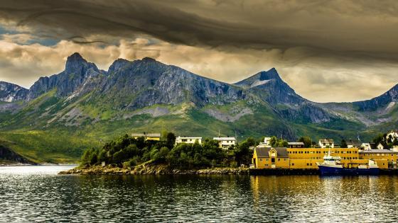 Bay in Norway wallpaper