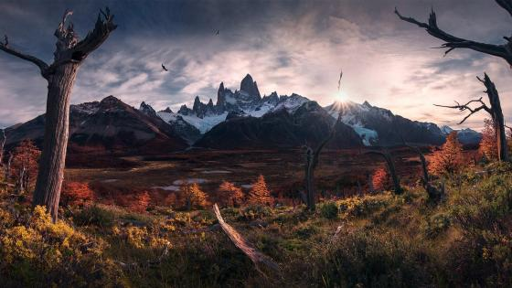 Los Glaciares National Park Fitz Roy Peak (Cerro Chaltén) wallpaper