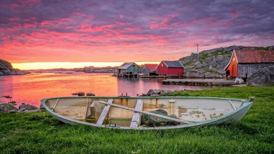 Sunset in Rogaland (Norway) wallpaper