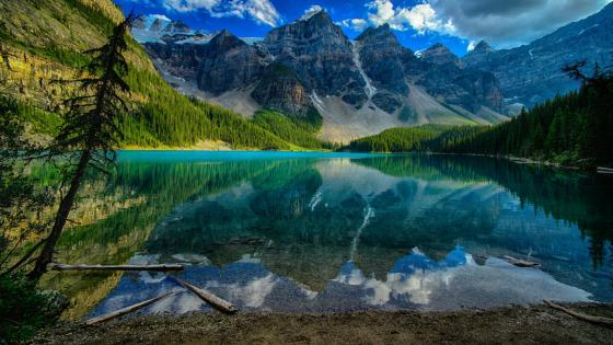 Moraine Lake (Valley of the Ten Peaks) wallpaper