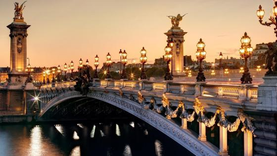 Alexandre III Bridge (Paris, France) wallpaper