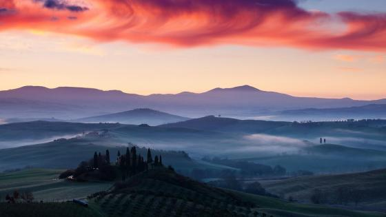 Val d'Orcia (Tuscany) wallpaper