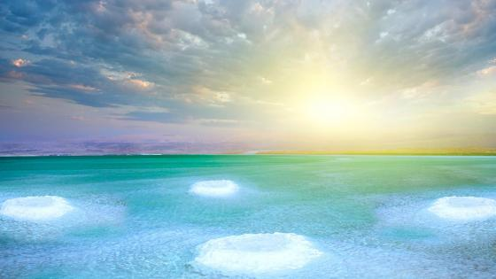 Dead Sea salt islands in Israel wallpaper