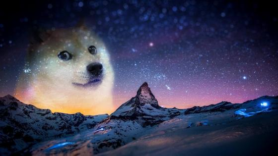 Doge in da sky wallpaper