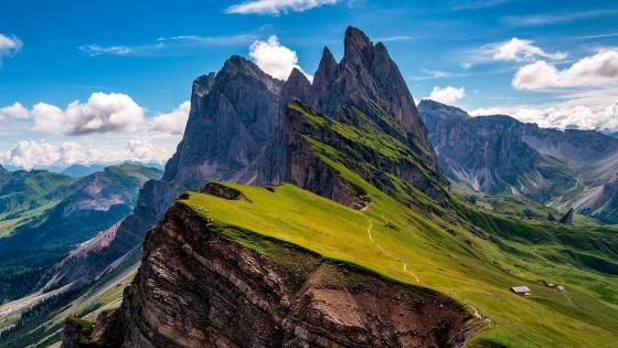 Dolomites Mountains (Val Gardena, Italy) wallpaper