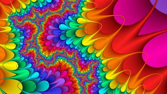Fractal colors wallpaper