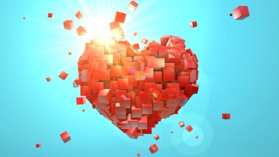 Cube heart wallpaper