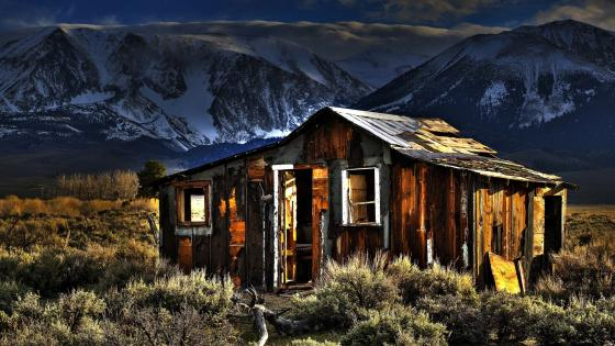 Old shack in Bodie Hills wallpaper