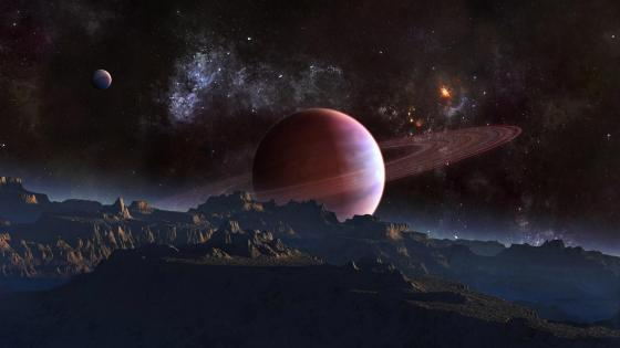 Alien planet - Space art wallpaper