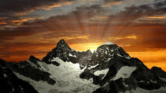 Ober Gabelhorn sunrise wallpaper