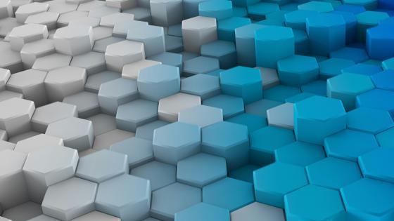 Blue hexagons wallpaper