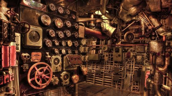 Ship control room wallpaper