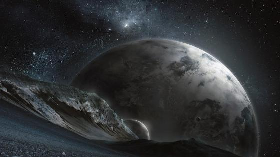 Alien landscape from an alien planet wallpaper