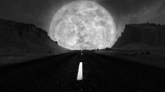Highway to the Supermoon wallpaper
