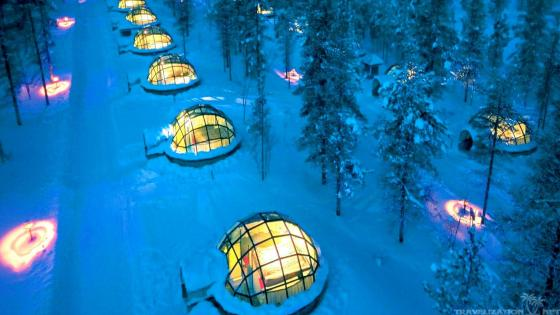 Kakslauttanen Arctic Resort East Village wallpaper