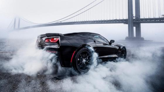 Black Chevrolet Corvette wallpaper
