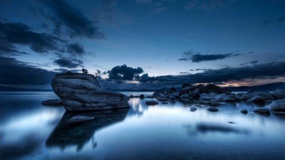 Bonsai Rock on Lake Tahoe wallpaper