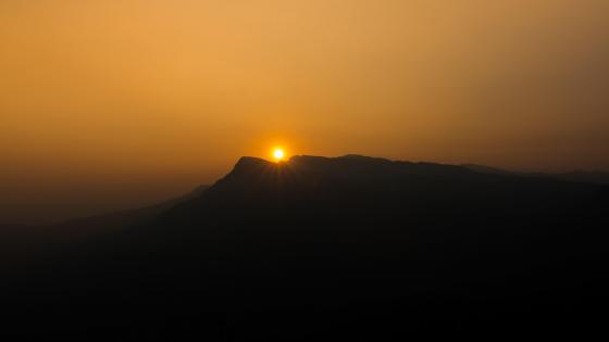 A Sunset over Western ghats wallpaper