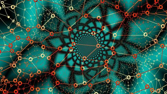 Mesmerizing web fractal art wallpaper