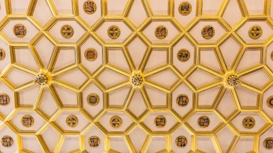 A Beautiful Ceiling in Hampton Court Palace wallpaper