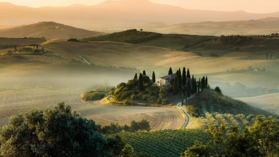 Villa Podere Belvedere, Val D'orcia, Tuscany wallpaper