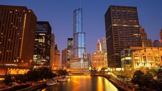 Chicago Riverwalk wallpaper