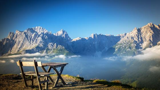 Dolomites overlook wallpaper