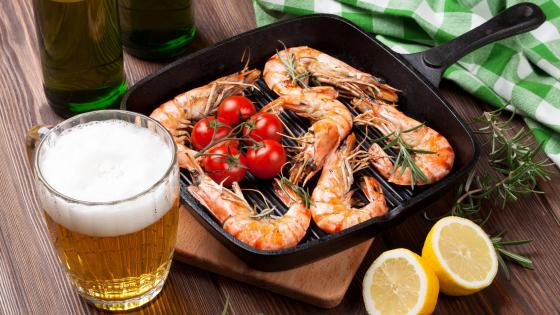 Shrimp with beer wallpaper