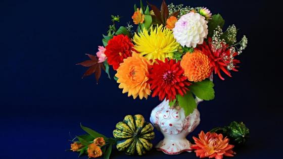 Flower bouquet still life photo wallpaper
