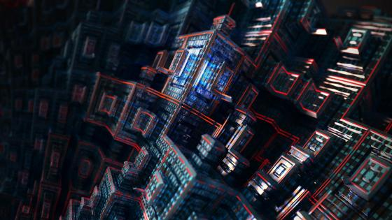 3D Buildings - Abstract digital art wallpaper