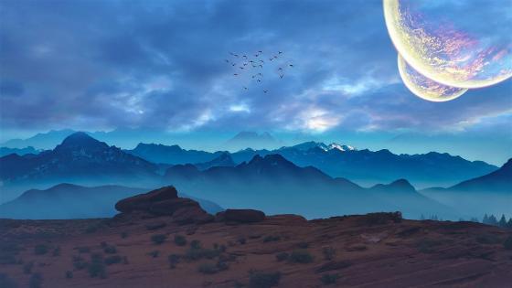 Planetary world wallpaper