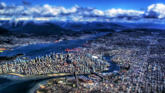 Vancouver - Tilt shift photography wallpaper