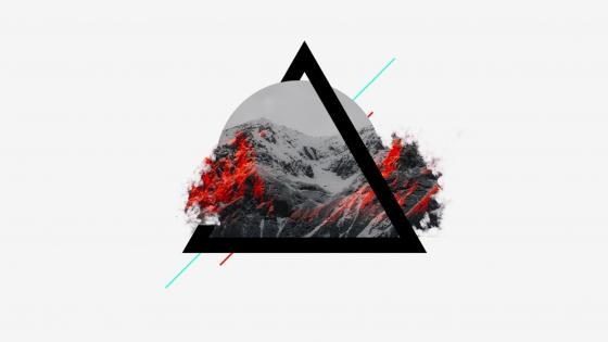Serene Mountains - Abstract art wallpaper