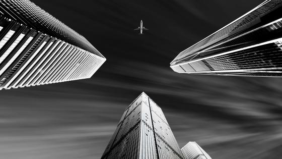 Shenzhen buildings - Monochrome Photography wallpaper