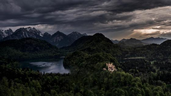 Hohenschwangau Castle in the distance wallpaper