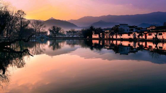 Hongcun Sunrise wallpaper
