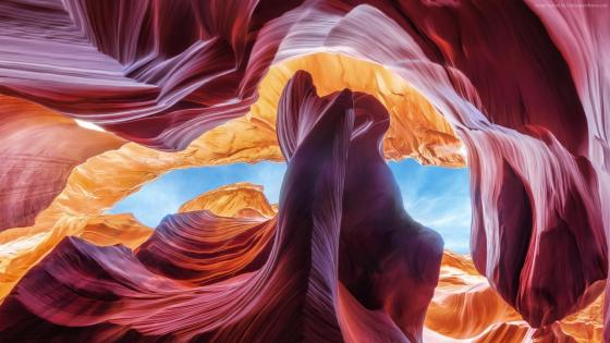Antelope Canyon rock formations wallpaper
