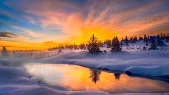 Picturesque Rogaland in winter (Norway) wallpaper