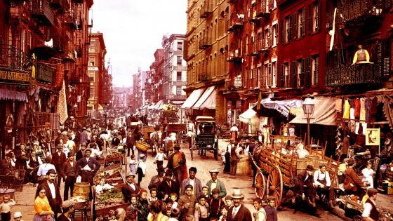 Old New York City wallpaper