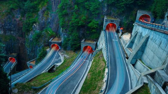 San Boldo pass Serpentine tunnel wallpaper