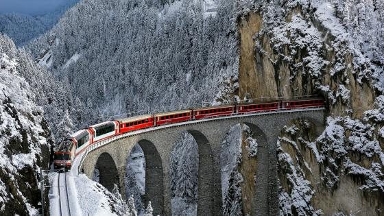 Landwasser Viaduct wallpaper