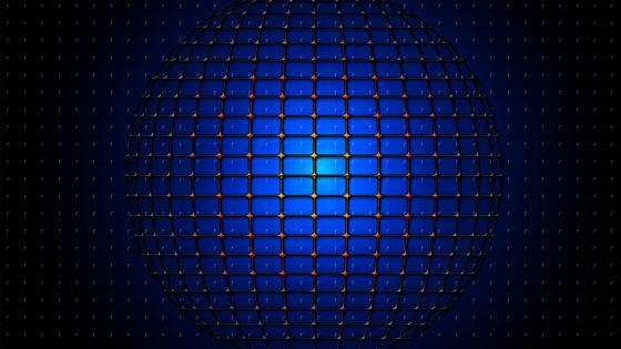 Blue sphere network - 3D Abstract Art wallpaper