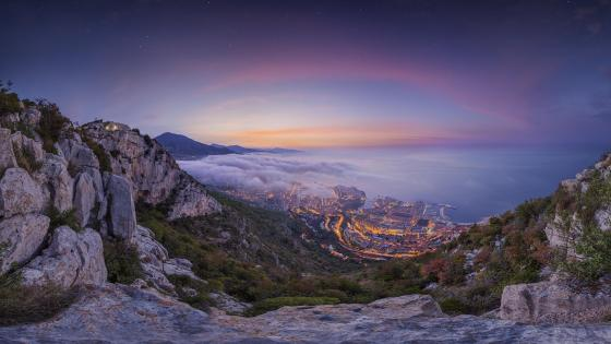 Monte-Carlo summer sunrise (Monaco) wallpaper