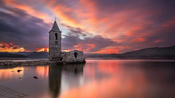 Church of Sant Romà the Submerged church wallpaper