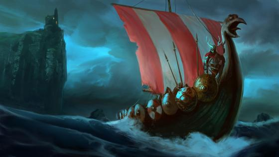 Viking Boat wallpaper