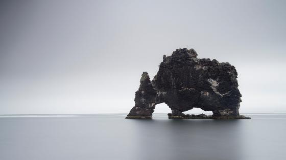 Hvítserkur troll rock wallpaper