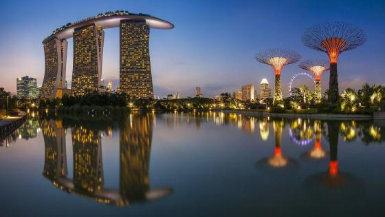 Singapore cityscape wallpaper