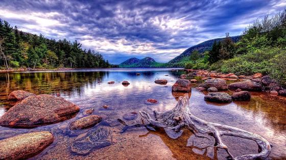 Jordan Pond (Acadia National Park) wallpaper